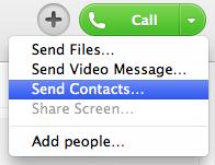 skype tips send contact