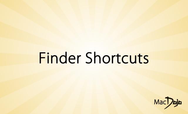 Finder Shortcuts