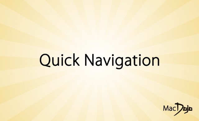 Quick Navigation